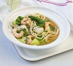 Thai-style fish broth with greens recipe - Recipes - BBC Good Food Wrap Recipes, Fish Recipes, Vegetable Recipes, Steak Recipes, Bbc Good Food Recipes, Cooking Recipes, Healthy Recipes, Healthy Dinners, Healthy Soups