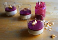 Coconut Panna Cotta with Blackberry Curd