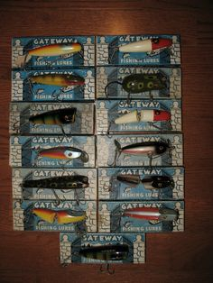 Rick Osterholt's Creek Chub lures made specially for Gateway Sporting Goods in St. Louis, ca. 1940s.