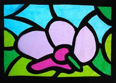 """After observing the Gothic stained glass with the students of '8th grade we made the """"stained glass windows"""" of tissue paper. We started the elaboration of a photograph with the i…"""
