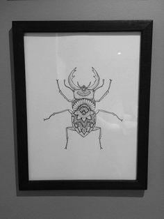 Mandala beetle print by Fupide13 on Etsy