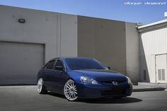 """Honda Accord with 20"""" Staggered Concave Silver BD-4 Wheels www.bd-wheels.com"""