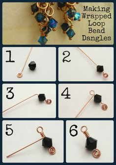 This weeks tip is on how to properly make a wire wrapped loop bead dangle. You will need: 1 bead 1 headpin A pair of round nose or small looping pliers A pair of flat nose pliers A pair of flush cu… How to Wire Wrap a Bead Bijoux Wire Wrap, Wire Wrapped Jewelry, Beaded Jewelry, Amber Jewelry, Glass Jewelry, Glass Beads, Diy Schmuck, Schmuck Design, Wire Crafts