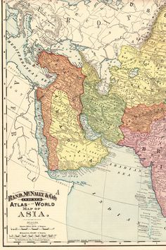 On august 19 1773 the official boundary was set between the 1894 rare size antique asia map vintage map of asia poster size gallery wall art gift for birthday traveler wedding 989 freerunsca Image collections