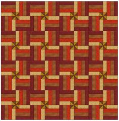 quilt pattern with pinwheels rail fence | one pinwheel rail fence quilt