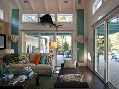 Love wall color and overall palette.  So fresh and summery.