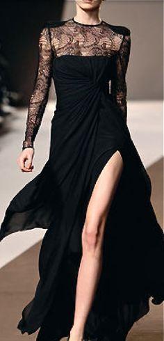 【ドレス Dresses スリット slit 黒 black】Elie Saab Elie Saab, Vestidos Fashion, Fashion Dresses, Lovely Dresses, Beautiful Gowns, Couture Fashion, Runway Fashion, Parisienne Chic, Glamour