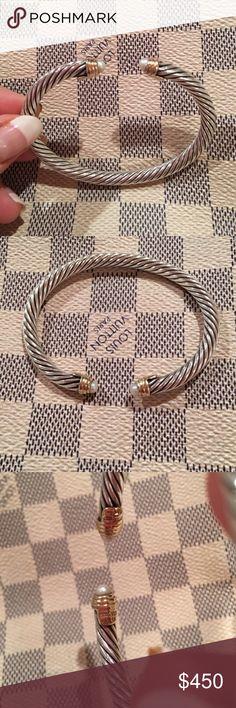 DAVID YURMAN 14K gold and pearl bracelet!!! DAVID YURMAN 14K gold and pearl bracelet!!! Still have box! David Yurman Jewelry Bracelets