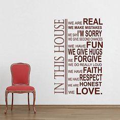 jiubai® huisregel kamer decoratie muursticker muurtattoo - EUR € 26.35