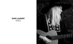 Joni Mitchell will be the muse of the House Saint Laurent for the next summer campaign