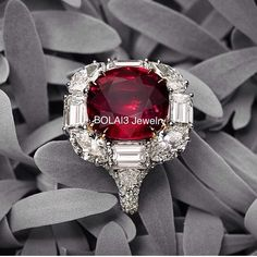 4cts Burmese #Ruby and 3cts #Diamond Ring from @davidmorjewelry