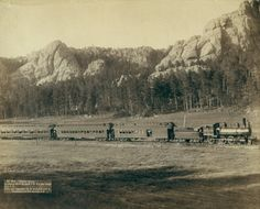 Horseshoe Curve on the Burlington and Missouri River Railway near Custer, South Dakota, 1891.