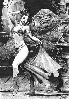 Slave Leia & Jabba the Hutt