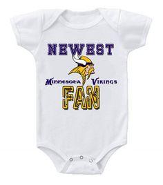 NEW Football Baby Onesie Creeper Minnesota Vikings #3