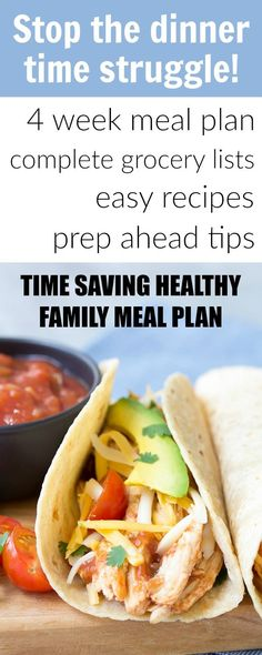 You want to feel organized and in control when it comes to feeding your family. Cut out processed foods with our 4 Week Time Saving Meal Plan + printable grocery lists and meal prep tips!