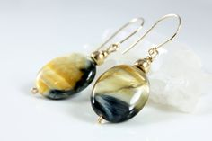Tigers eye earrings at https://www.etsy.com/listing/175360227/tiger-eye-earrings-with-gold-finish-fine