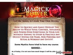 (adsbygoogle = window.adsbygoogle || []).push();     (adsbygoogle = window.adsbygoogle || []).push();  Get the Ultimate Magick Power…the Ability to Define Your Own Destiny!    http://www.MagickPower.com/ review     (adsbygoogle = window.adsbygoogle || []).push();  Unique...