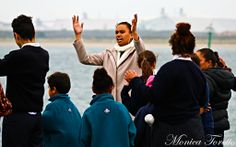 Awaiting the arrival of the Haunui Waka in Bluff. April 2014.  See our website for the story.