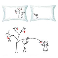 Love Grows for You Couple Pillowcase Set