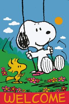 """Peanuts Welcome Halloween 12/"""" x 18/"""" Flag//Banner ft Lucy Snoopy Charlie Brown"""