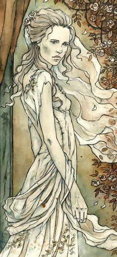 White Lady by liga-marta on DeviantArt (detail)