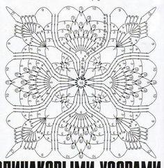 Замечательная схема салфетки для вязания крючком