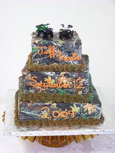 Mossy Oak with ATV Wedding Cake