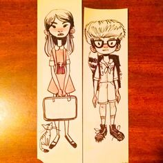 Inktober the second. More scratchy sketches on receipts at work. This time Moonrise Kingdom's Suzy and Sam. From memory so I got some things wrong. Side note: When I am dating someone I plan to force them to dress up as Sam for Halloween so I can be Suzy. #whatkindofbirdareYOU by karlyjadec