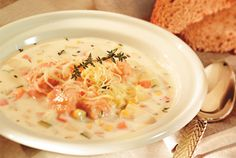 Delicious Salmon Vegetable Chowder