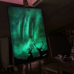Brilliant Landscape Illustrations Are Composed with Glow-In-The-Dark-Paint by  Cristoforo Scorpiniti