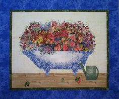 Flower Bath II Watercolor Quilt Fabric Kit by MostlyQuilts