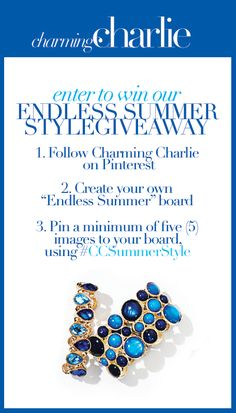 Enter to win the Endless Summer Style Giveaway! Summer Accessories, Summer Jewelry, Summer Of Love, Summer Fun, Megan Mitchell, Love Charms, Affordable Jewelry, Summer Essentials, Summer Trends