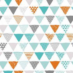 Papel de parede geométrico triângulos 070