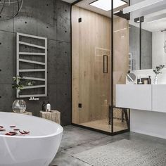 Yay or nay? Feature timber shower of the Modern Loft Project designed by Idwhite Architects