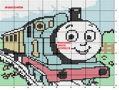 Thomas the Tank Engine Cross-Stitch Pattern
