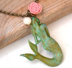Mermaid Necklace  The Little Mermaid Necklace by roomofyourown, $38.00