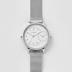 2921ac5537d5 Hagen Dual-Time Steel Mesh Watch Relojes Skagen
