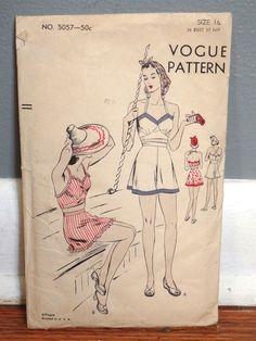 Vogue 5057 | 1940s Bathing Suit