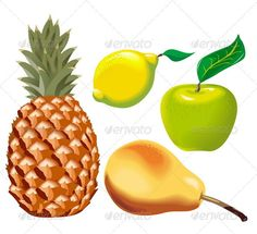 Realistic Graphic DOWNLOAD (.ai, .psd) :: http://realistic-graphics.top/pinterest-itmid-1002458399i.html ... Vector Fruits set ...  agriculture, apple, citrus, collection, dessert, food, fruit, group, icon, illustration, isolated, lemon, objects, painting, pear, pineapple, ripe, set, sweet, tropical, vector, vegetarian, white  ... Realistic Photo Graphic Print Obejct Business Web Elements Illustration Design Templates ... DOWNLOAD…