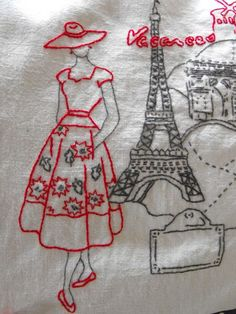 lady in Paris - this is just an image for sewing inspiration - beautiful
