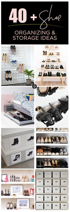 Shoe organizing and storage ideas // organized closet // stunning wardrobes // how to organize your shoes // heels sandals and sneakers oh my! // organized home // www.SimplySpaced.com