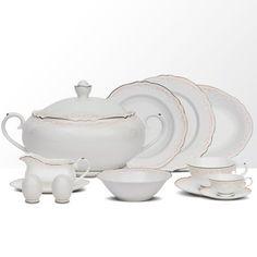 Karaca 84 Parça Pera Yemek Takımı Sugar Bowl, Bowl Set, Kitchen, Future, Table, Cuisine, Future Tense, Kitchens, Desk
