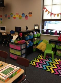 So Many Awesome Room Setup Ideas- The School Supply Addict.  Look at bookmarks for students to keep track of who checked and what and where it goes.  6th grade classtoom