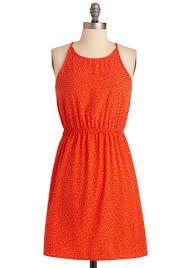 Tomato red dress
