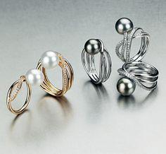 Gellner Rings #pearls #unique #jewellery  http://www.argentjewellery.co.uk