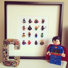 Lego MiniFigures Frame Avengers Batman Superman by SWEETINDIGO