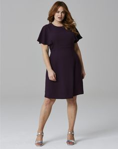 Crepe Frill Dress | SimplyBe US Site