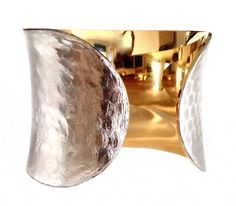 Silver Metallic Snakeskin Cuff Bracelet by by UNEARTHED on Etsy