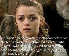 """And she's very dedicated to the books. 