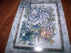 """Design Works WHITE TIGER in JUNGLE  Counted Cross Stitch Kit  15"""" x 20"""" #DesignWorks"""